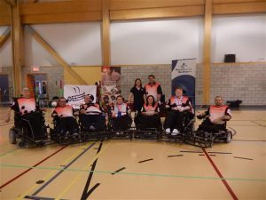 photo de l'équipe de powerchair