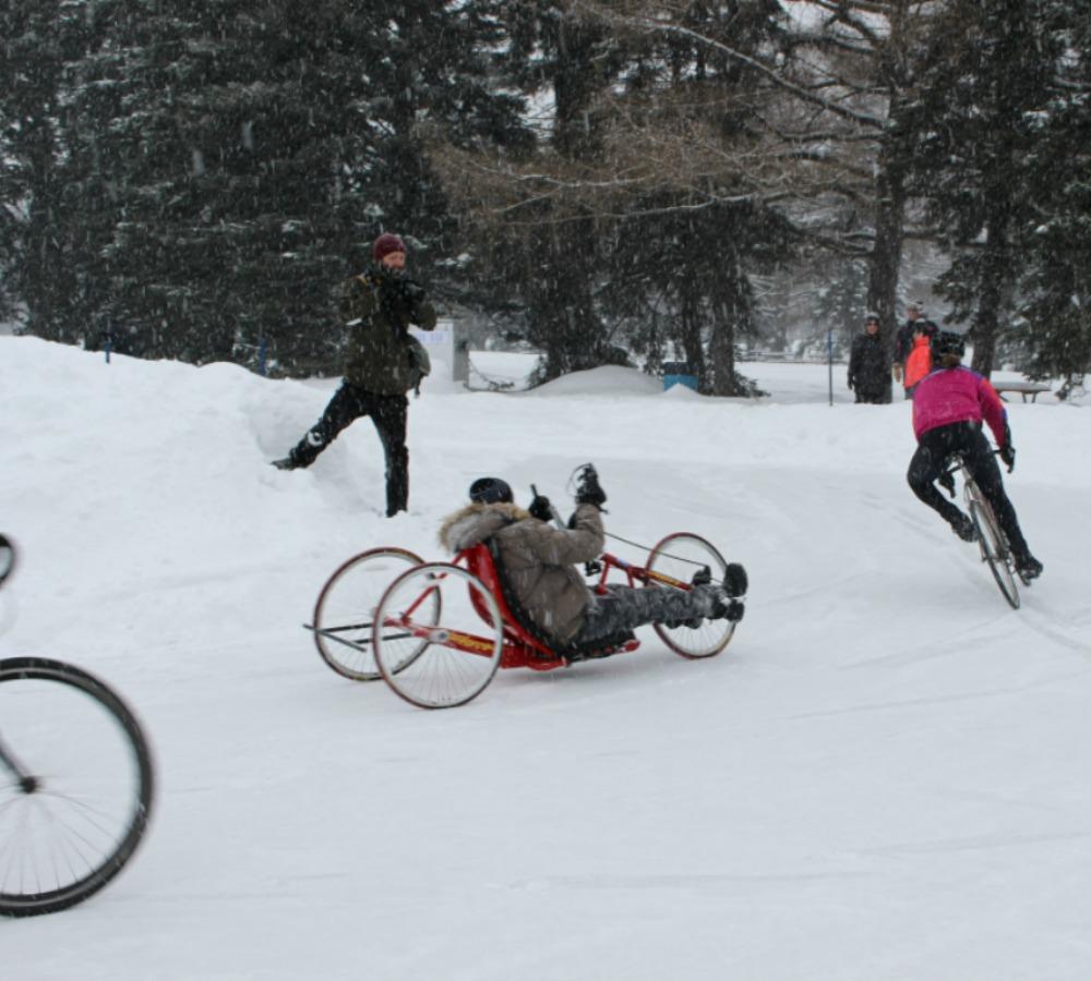 Vélo sur glace