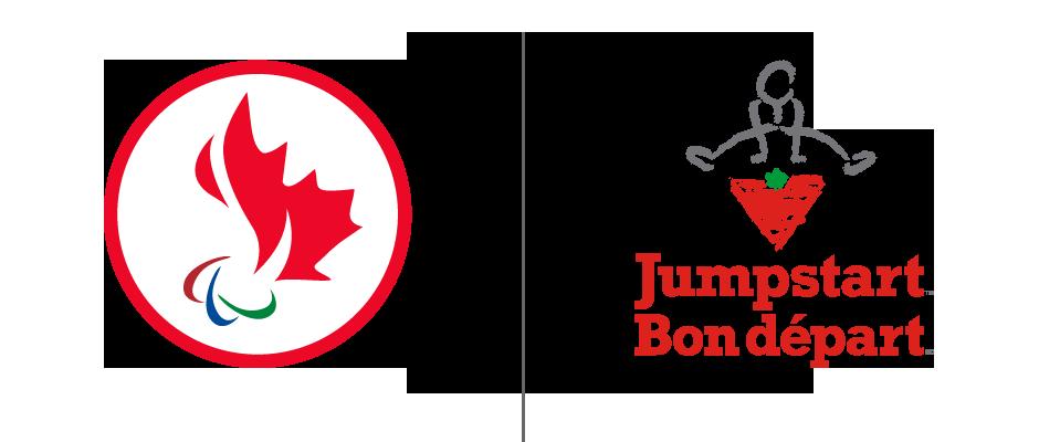 """Logo Comité Para;ympique Canadien et fondation """"Bon départ"""""""