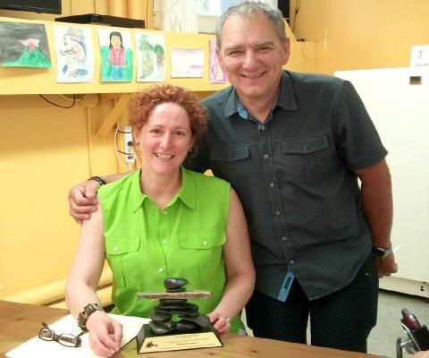 Prix Dr Bertrand-Primeau reçu par Mme Josée Queneville