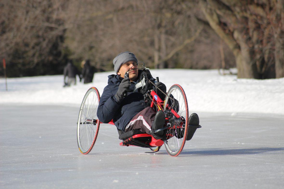 course de vélo sur glace CIVA honesca